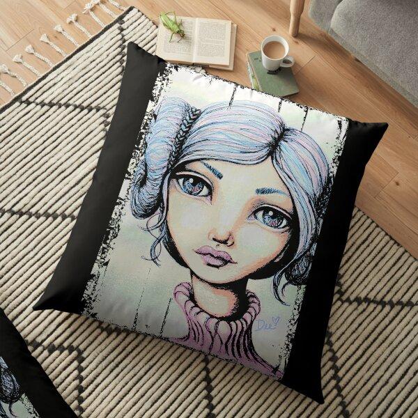 Space Buns - Full-Color Version Floor Pillow