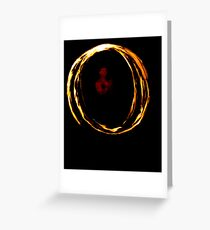 Fire Twirling Greeting Card