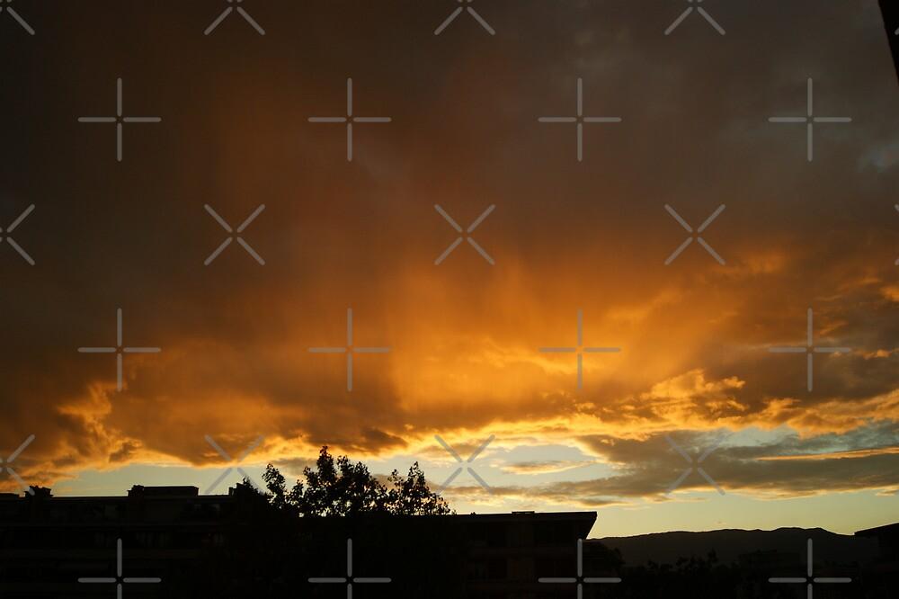 blazing sky by poupoune