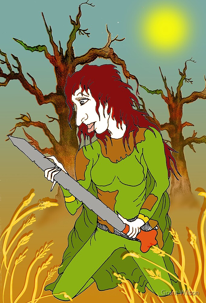 Sword Woman of the Old Forest by Grant Wilson