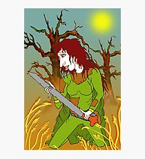 Sword Woman of the Old Forest Photographic Print