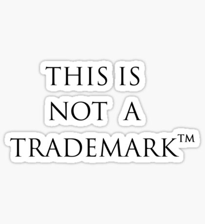 Trademark Sticker