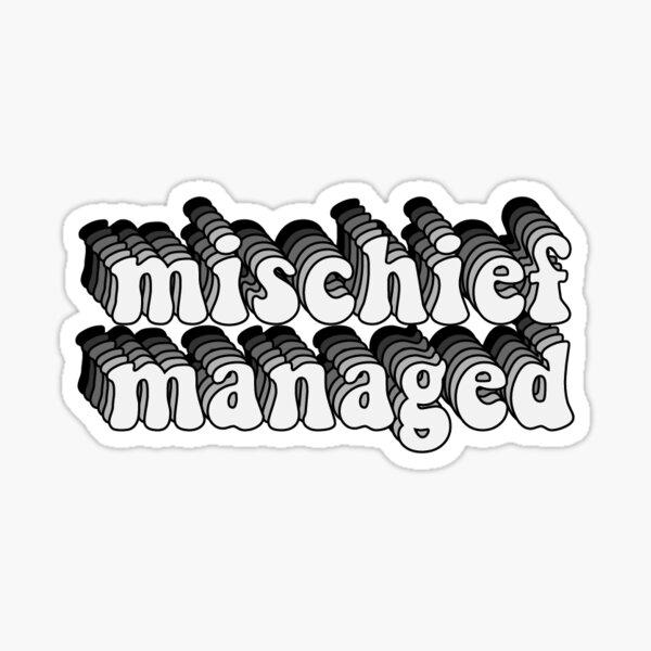 mischief managed baby Sticker