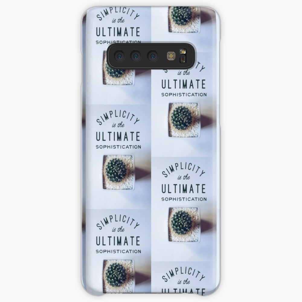 simplicity is the ultimate sophistication Case & Skin for Samsung Galaxy