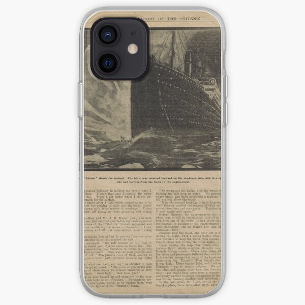The Deathless Story of the Titanic iPhone Soft Case