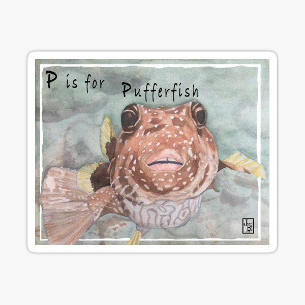 P is for Pufferfish Sticker