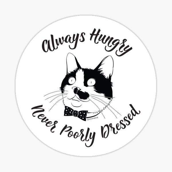 Dapper Hungry Cat Sticker
