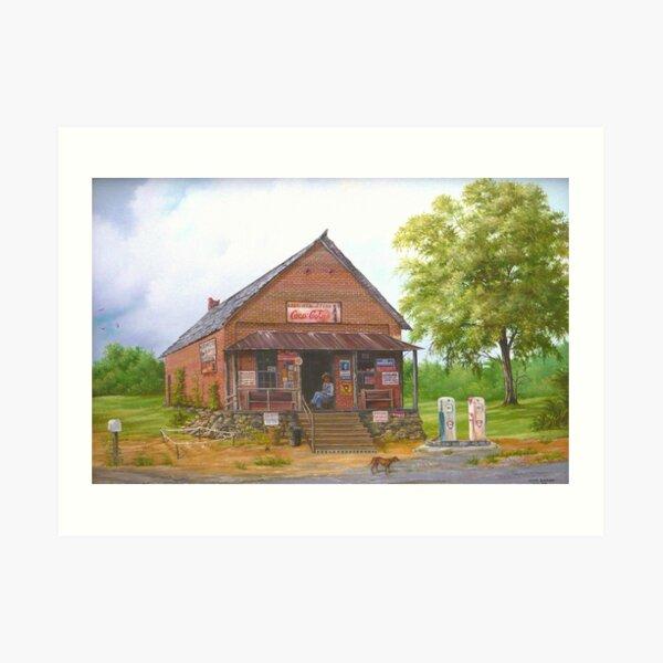 Lost Mountain Store, Cobb Co. Georgia Art Print