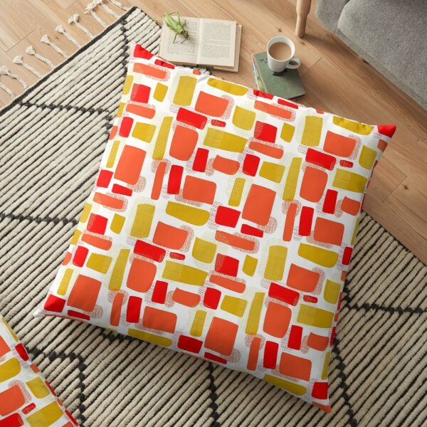 Fire in the day Floor Pillow