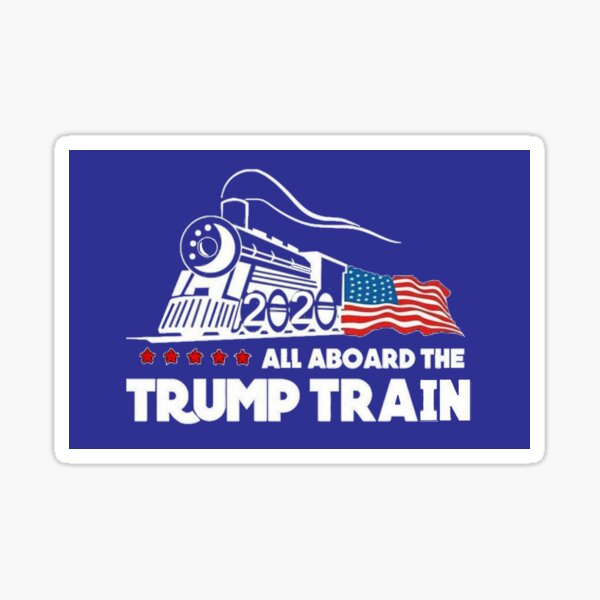 Trump Train Stickers Redbubble