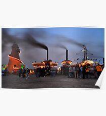 Showmans engines at dusk Poster