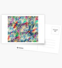 2nd skin - colourful abstract Postcards