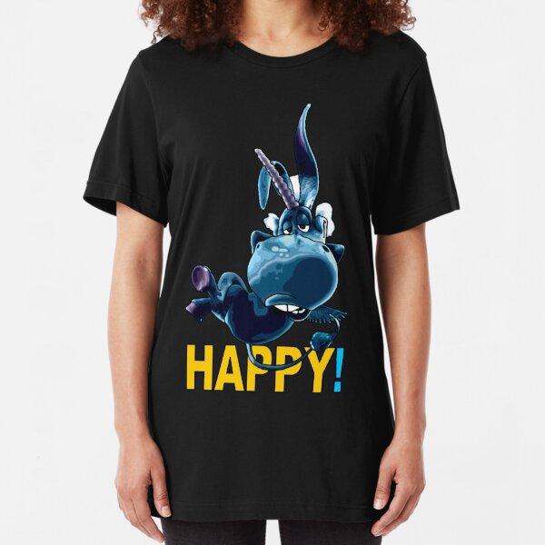 Blue Unicorn is Happy Slim Fit T-Shirt