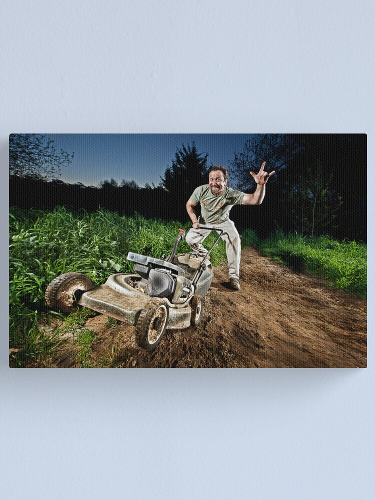 Alternate view of Have Mower WILL MOW!! Canvas Print