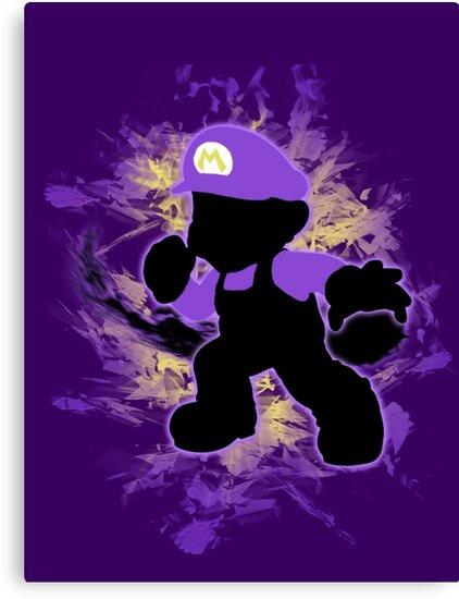 Super Smash Bros. Purple Mario Silhouette by jewlecho