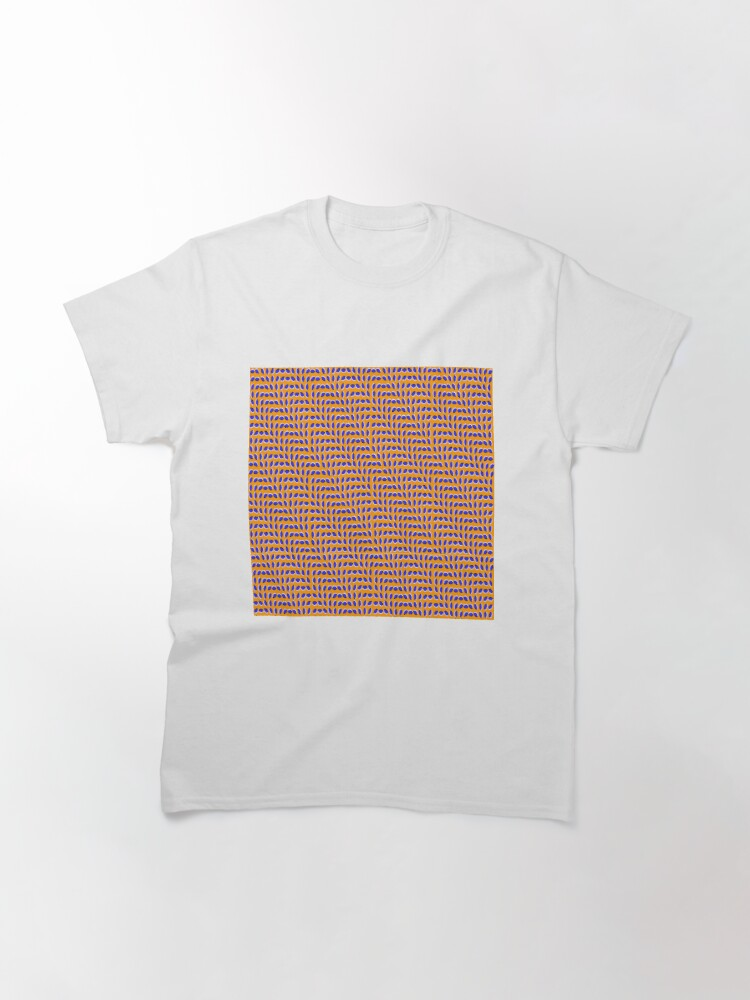 Alternate view of #MOVING #EYE #ILLUSION #Pattern, design, circular, abstract, illustration, art, grid, proportion, symmetrical Classic T-Shirt