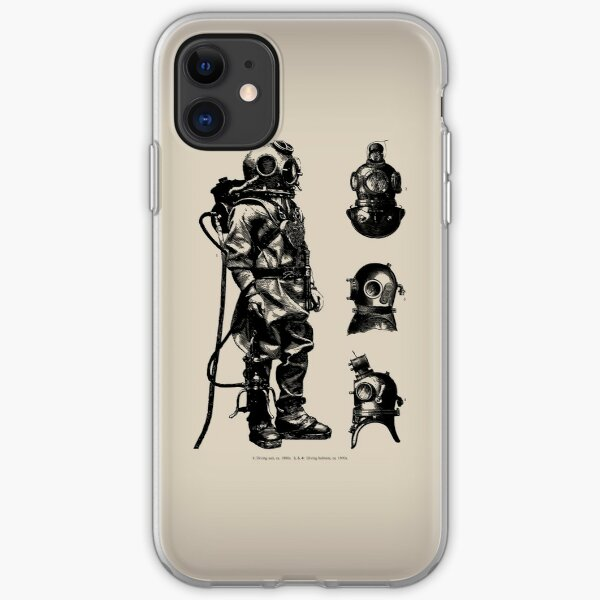 Vintage Deep Sea Diver | Nautical |  iPhone Soft Case