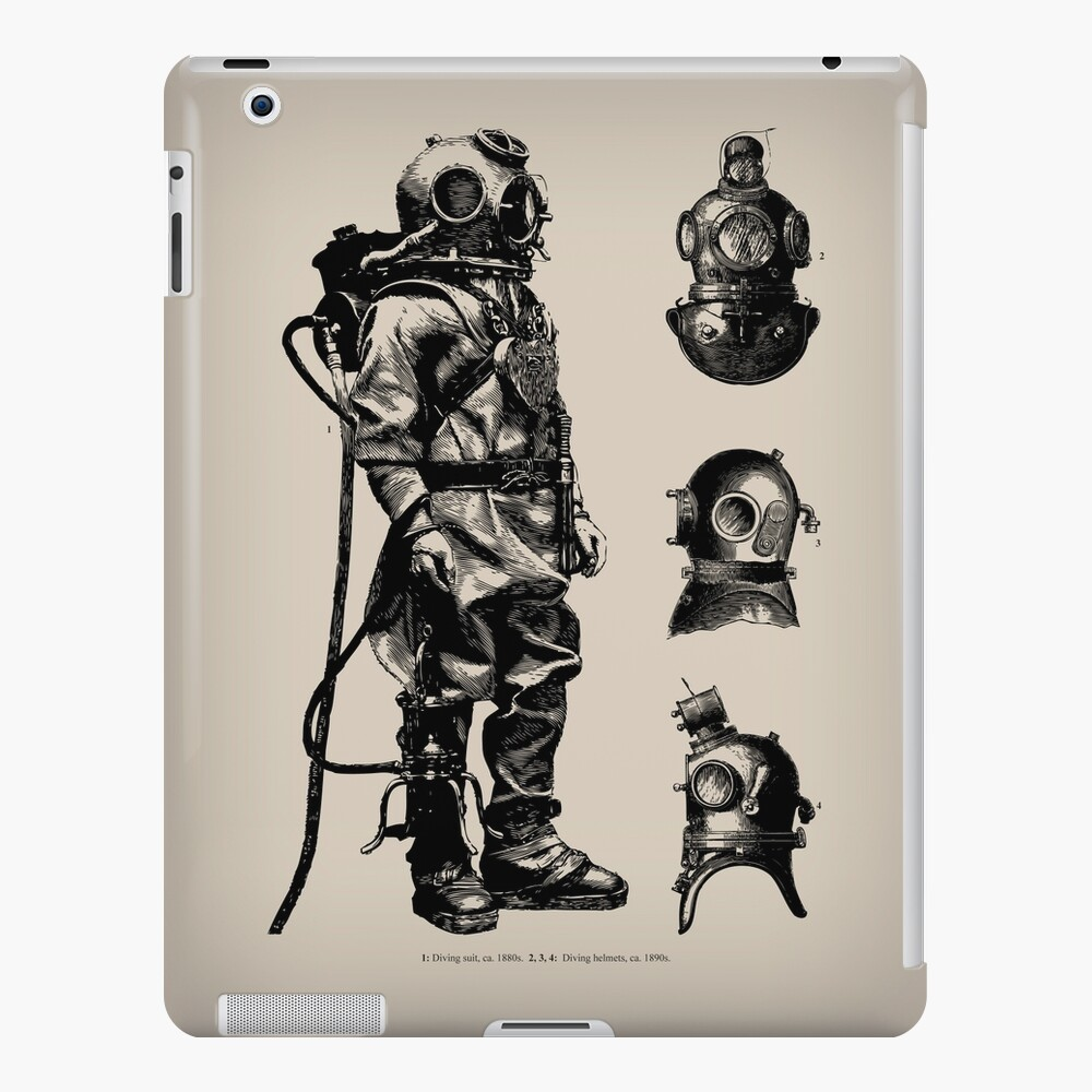 Vintage Deep Sea Diver | Nautical |  iPad Snap Case