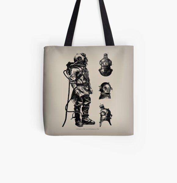 Vintage Deep Sea Diver | Nautical |  All Over Print Tote Bag