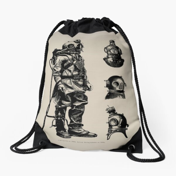 Vintage Deep Sea Diver | Nautical |  Drawstring Bag