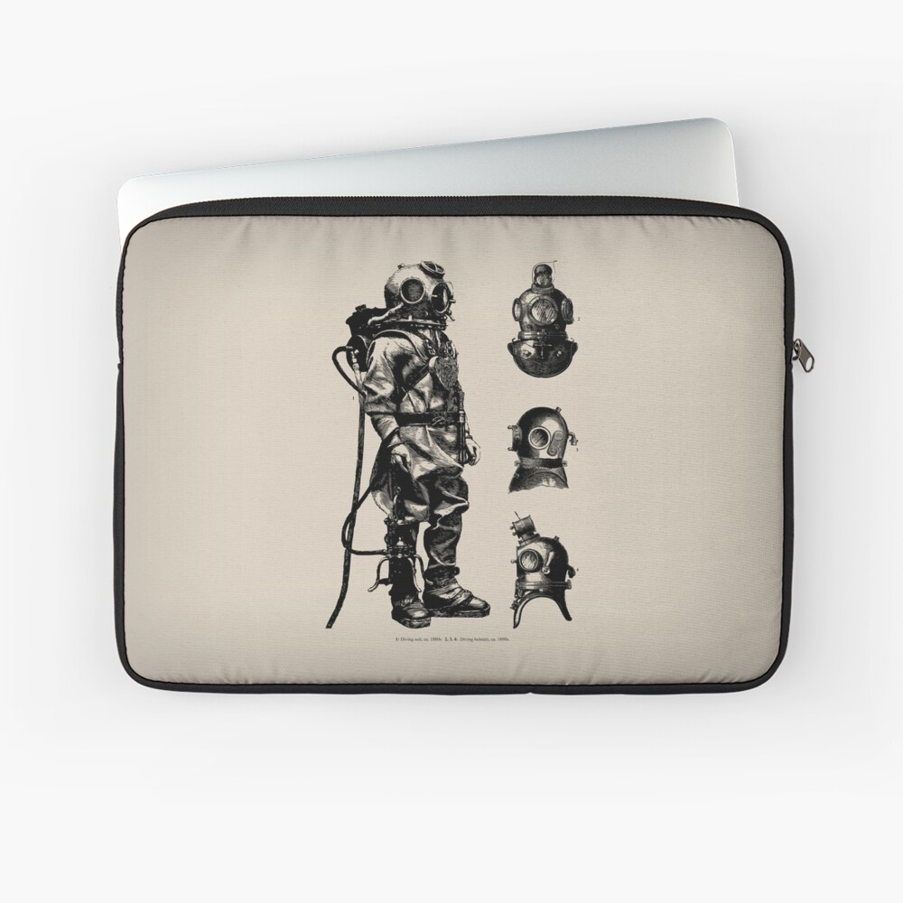Vintage Deep Sea Diver | Nautical |  Laptop Sleeve