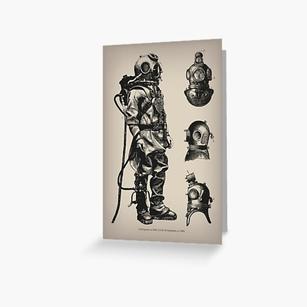 Vintage Deep Sea Diver | Nautical |  Greeting Card
