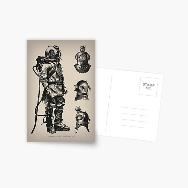 Vintage Deep Sea Diver | Nautical |  Postcard