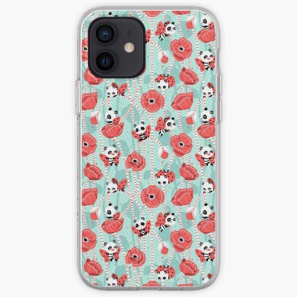 Poppy Pandas iPhone Soft Case