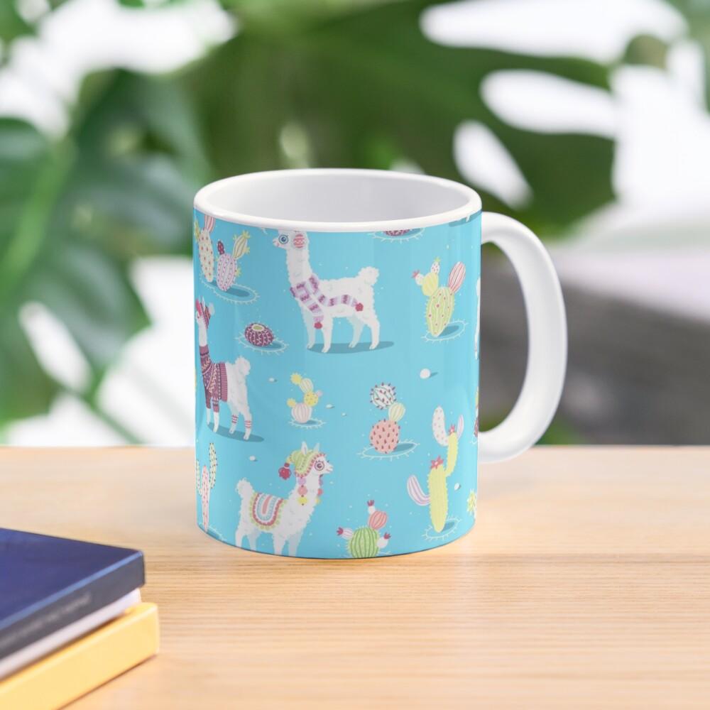 Alpaca Pattern Mug