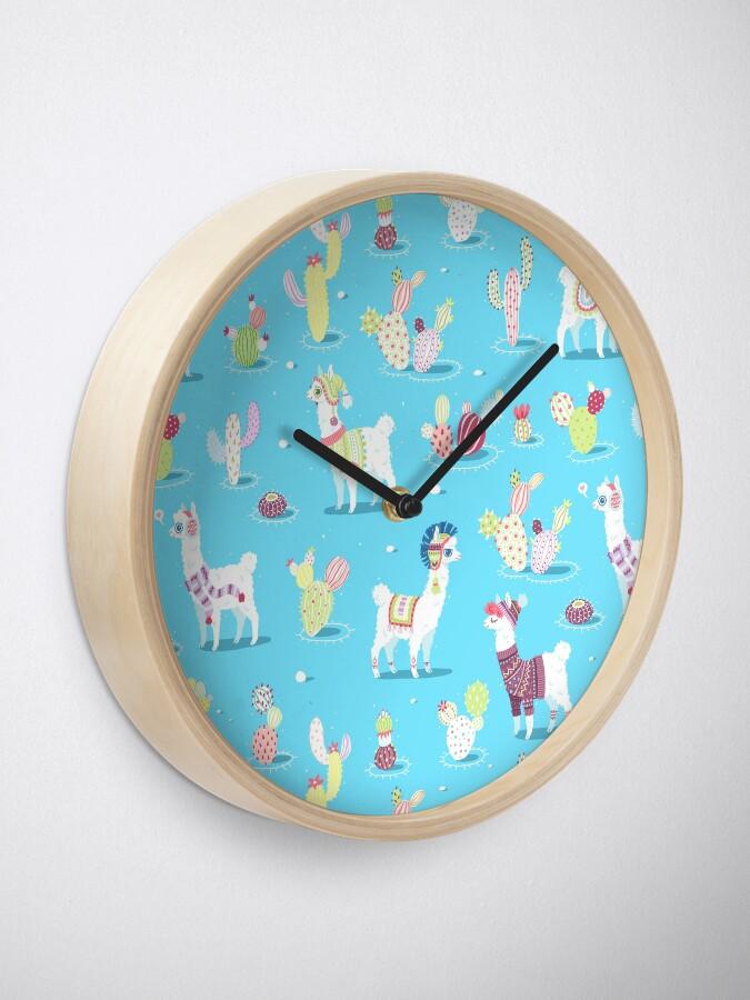 Alternate view of Alpaca Pattern Clock