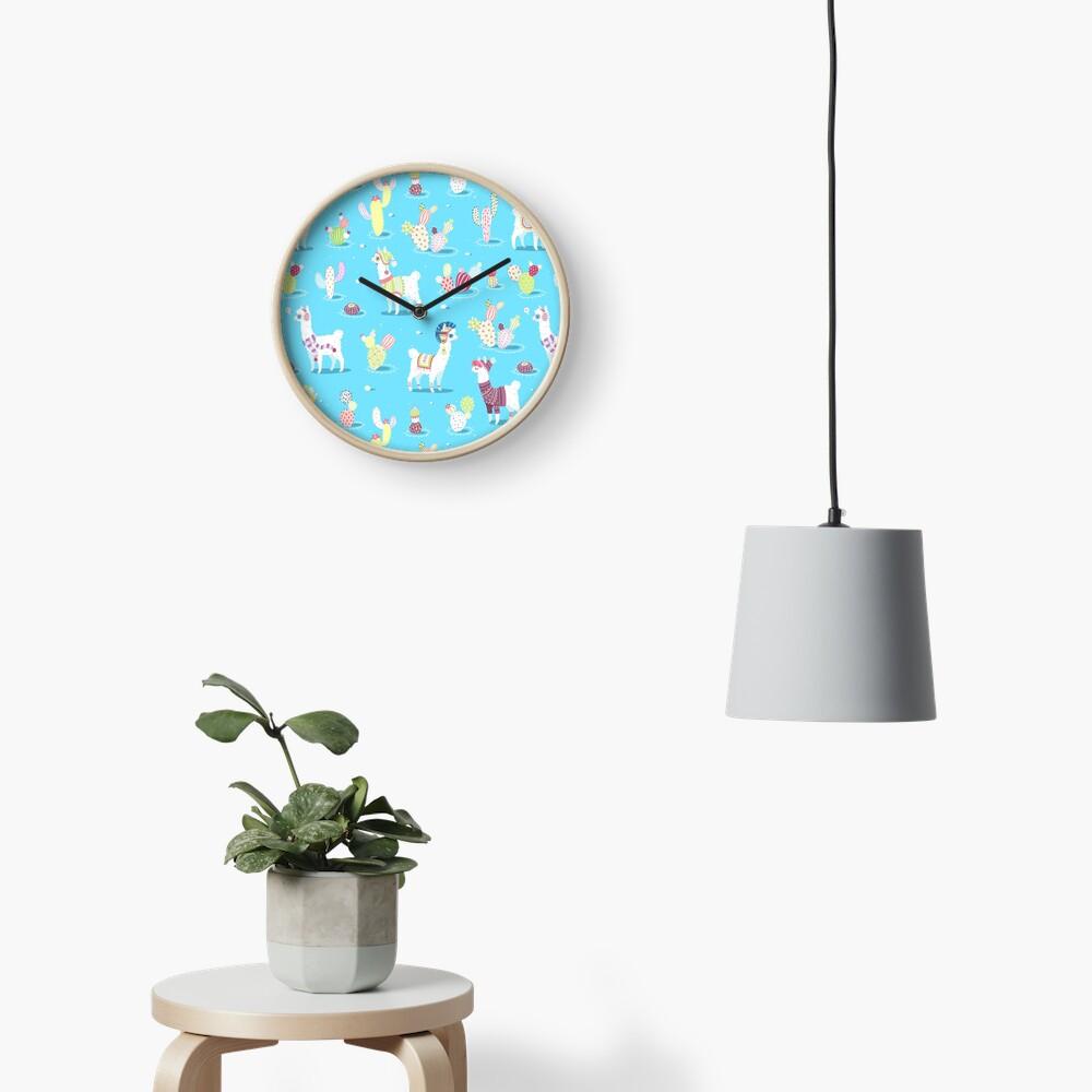 Alpaca Pattern Clock