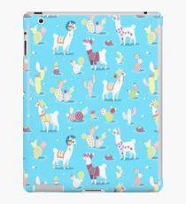 Alpaka-Muster iPad-Hülle & Klebefolie