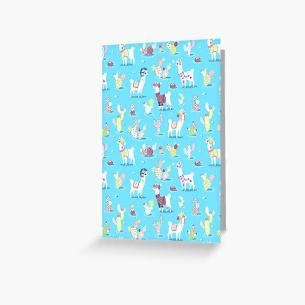Alpaca Pattern Greeting Card