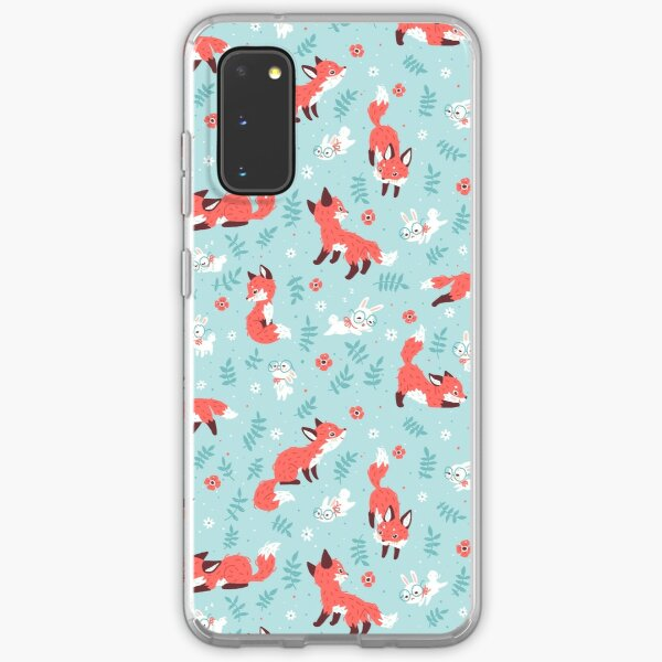 Fox and Bunny Pattern Samsung Galaxy Soft Case