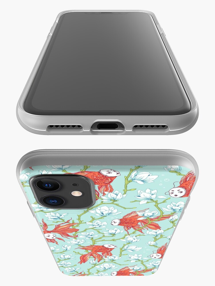 Alternate view of Goldfish, Mask and Magnolia Pattern iPhone Case & Cover