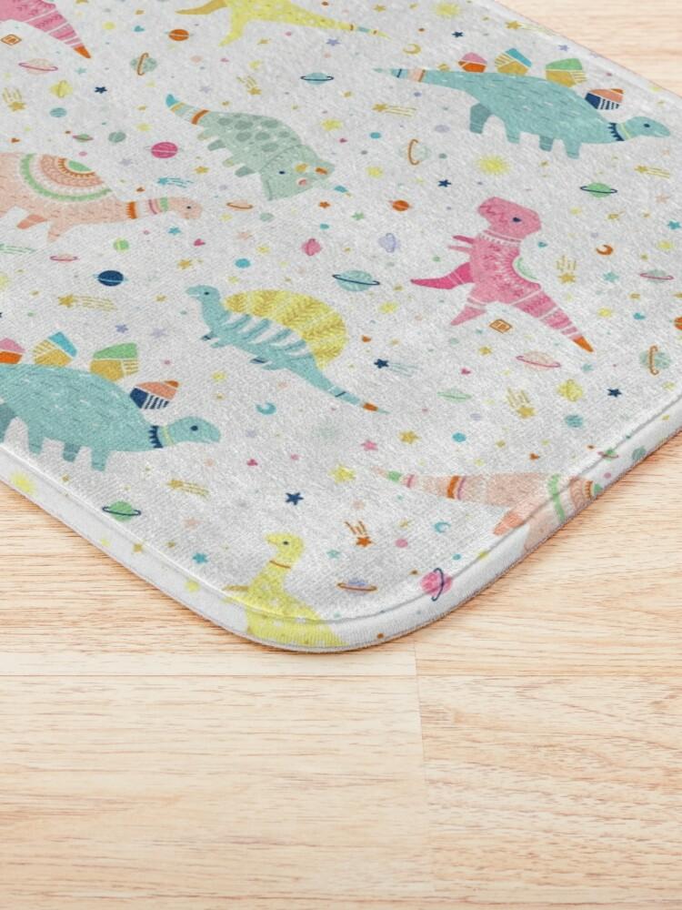 Alternate view of Dinosaur Pattern Bath Mat
