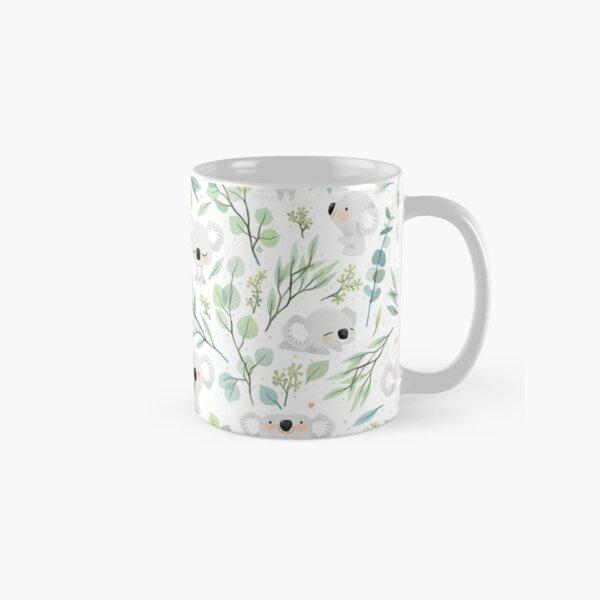 Koala and Eucalyptus Pattern Classic Mug