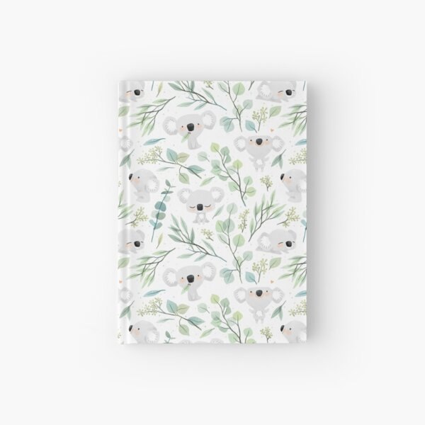 Koala and Eucalyptus Pattern Hardcover Journal