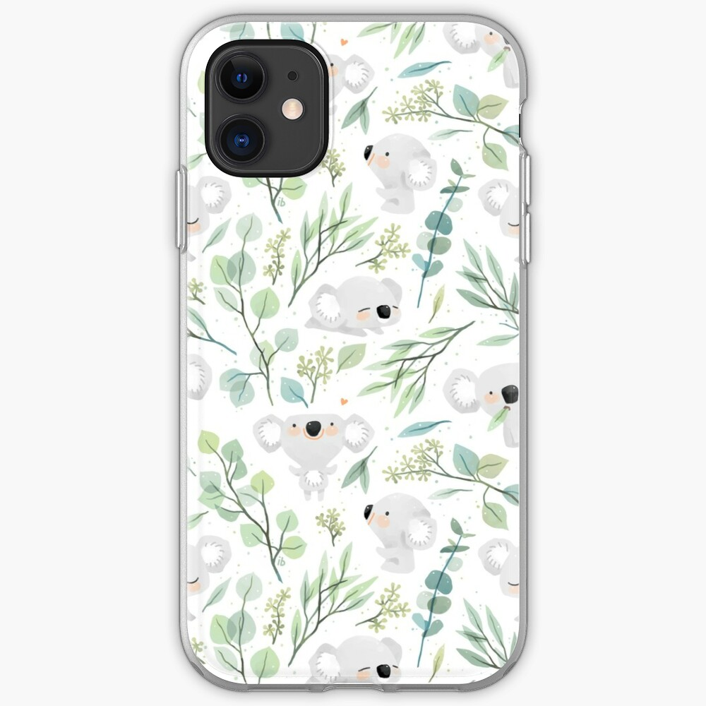 Koala and Eucalyptus Pattern iPhone Case & Cover