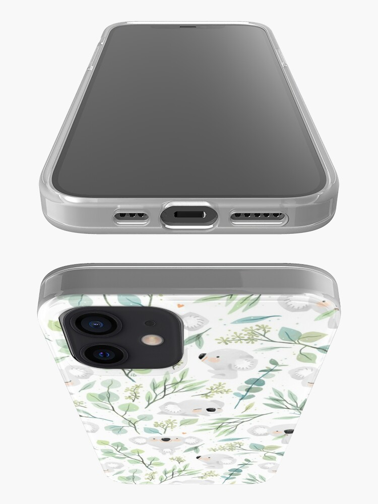 Alternate view of Koala and Eucalyptus Pattern iPhone Case & Cover
