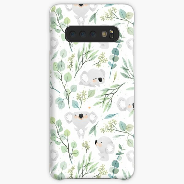 Koala and Eucalyptus Pattern Samsung Galaxy Snap Case