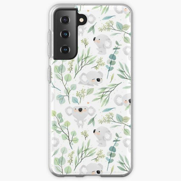 Koala and Eucalyptus Pattern Samsung Galaxy Soft Case