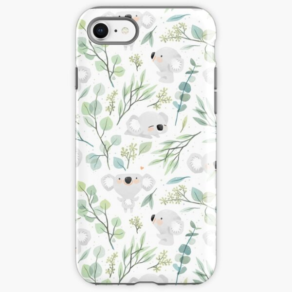 Koala and Eucalyptus Pattern iPhone Tough Case