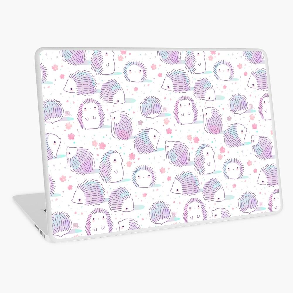 Spring Hedgehog Pattern Laptop Skin