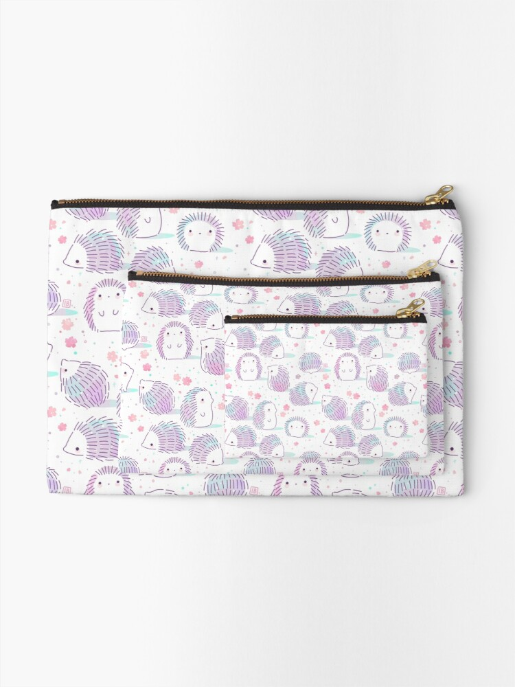 Alternate view of Spring Hedgehog Pattern Zipper Pouch