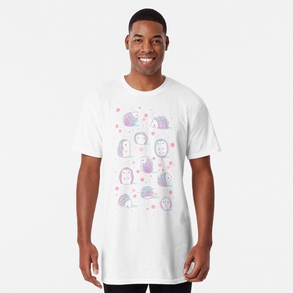 Spring Hedgehog Pattern Long T-Shirt