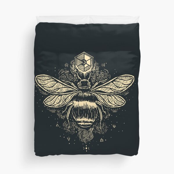 The Birth of Bees Duvet Cover