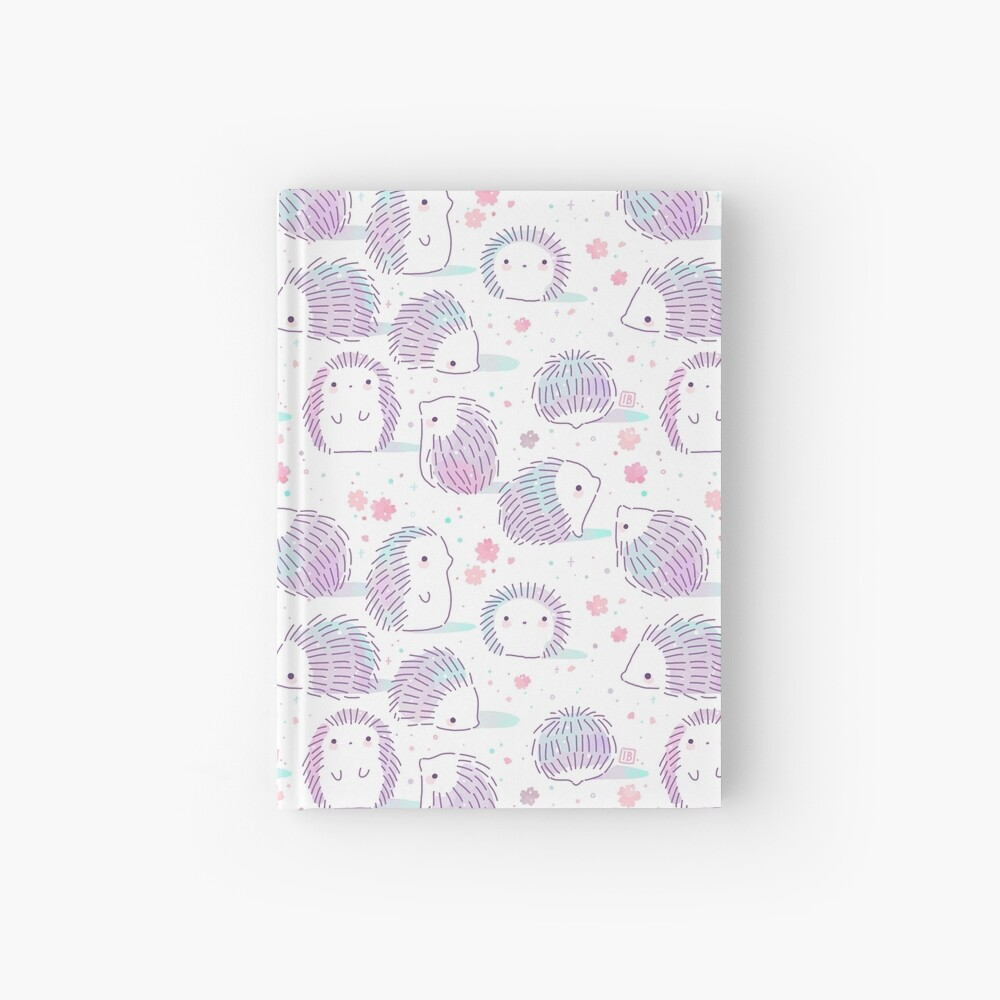 Spring Hedgehog Pattern Hardcover Journal