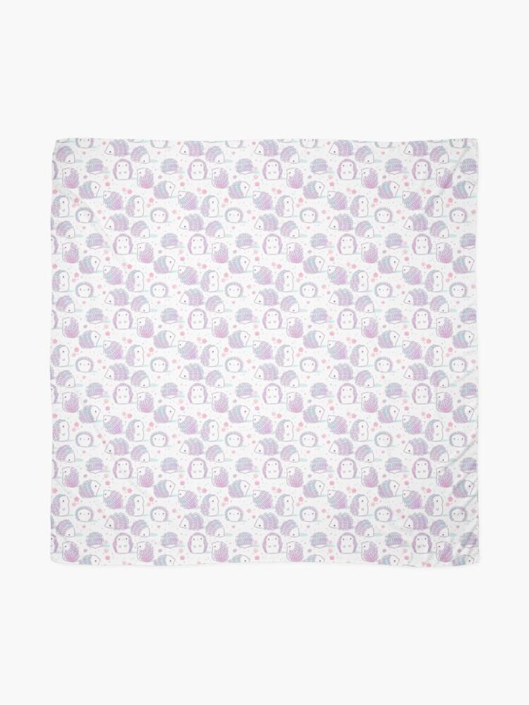 Alternate view of Spring Hedgehog Pattern Scarf