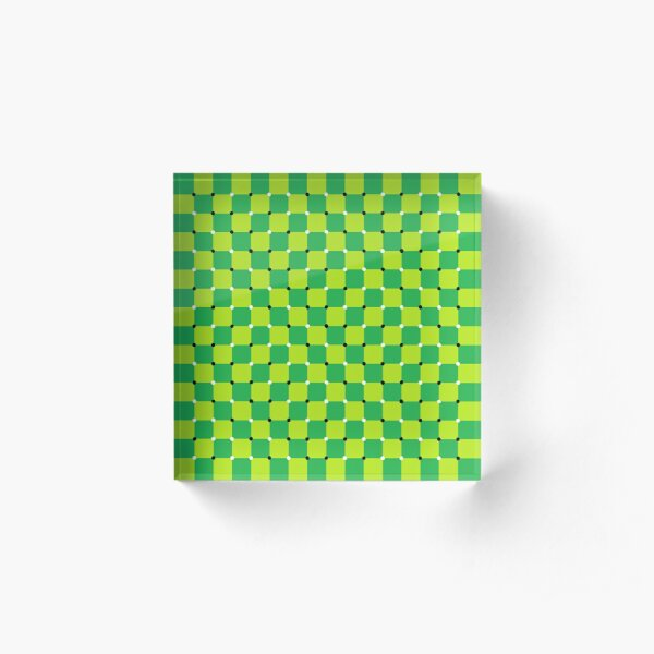#MOVING #EYE #ILLUSION #Pattern, design, circular, abstract, illustration, art, grid, proportion, symmetrical Acrylic Block